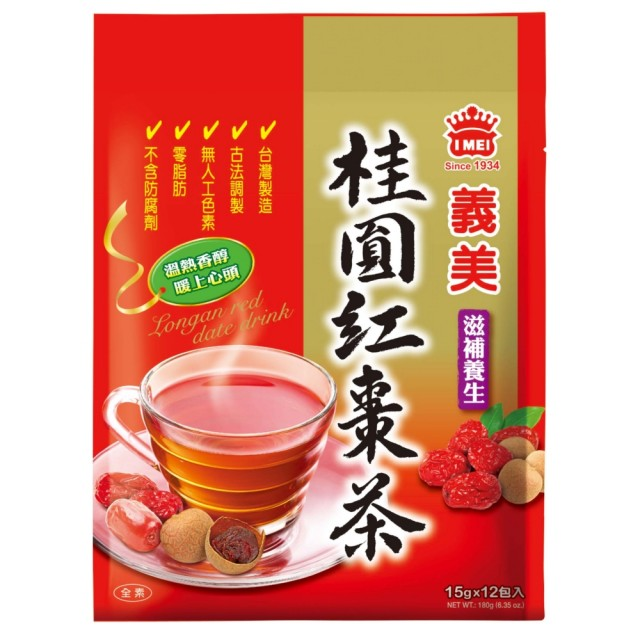台湾IMEI义美 桂圆红枣茶 180g