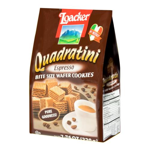 意大利LOACKER莱家 QUADRATINI 威化小饼干 香醇咖啡味 220g