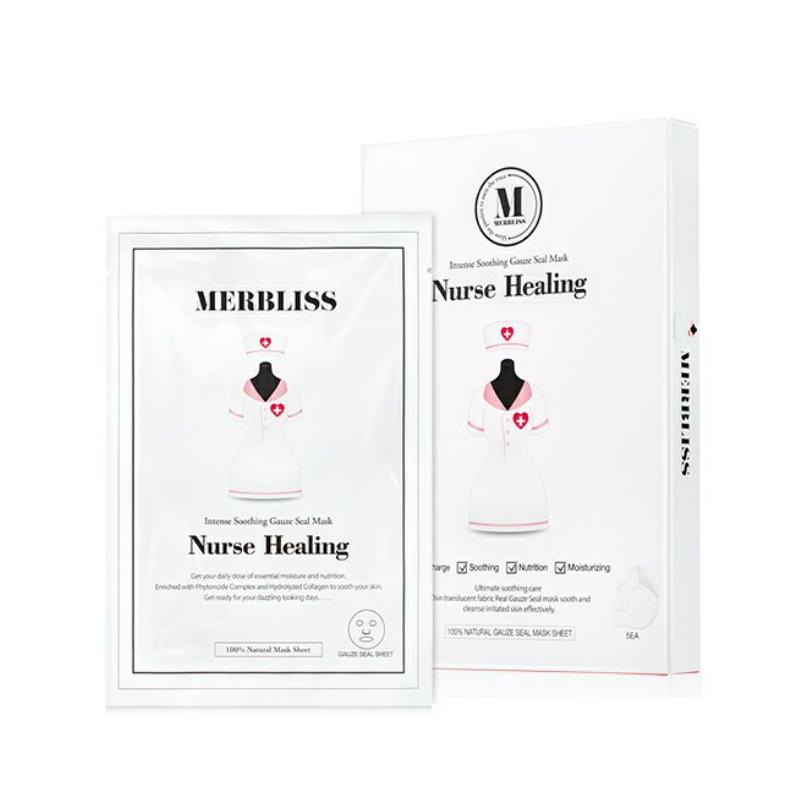 韩国MERBLISS茉贝丽思 婚纱护士纱布面膜 补水修复镇定抗敏感 5片入