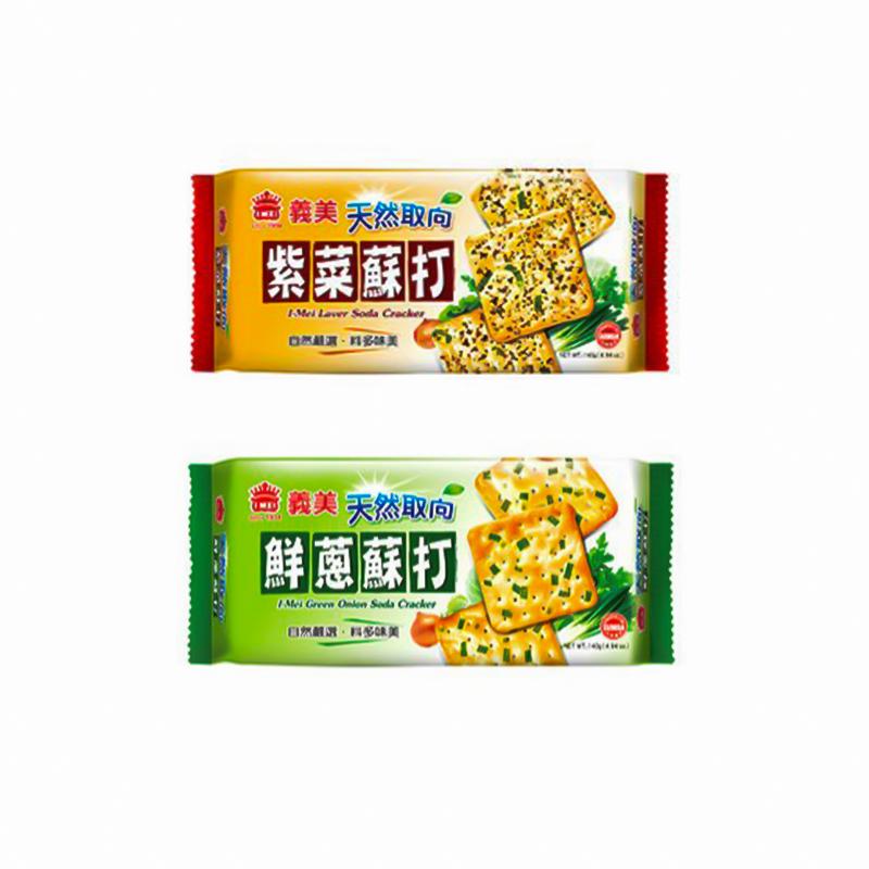 台湾IMEI义美 天然取向 鲜葱/紫菜苏打 140g