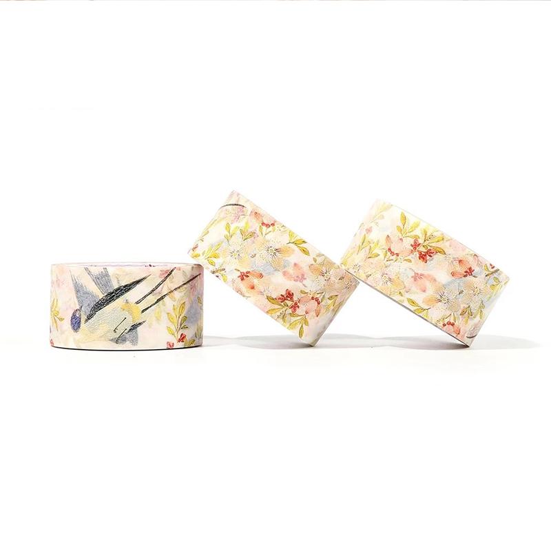 春入花梢燕双飞和纸胶带